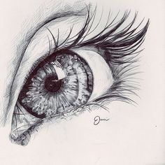 eye sketch - I'd have a whole wall of Eye art! Amazing Drawings, Beautiful Drawings, Cool Drawings, Drawing Sketches, Eye Sketch, Sketching, Beautiful Eyes, Hipster Drawings, Pretty Eyes