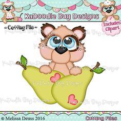 Cutie KaToodles - Peeker Pear Bear