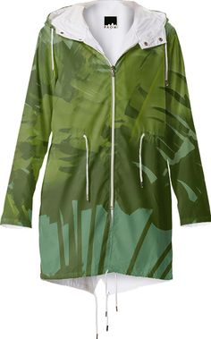Raincoat, Faux Vintage Tropical Fabric from Print All Over Me