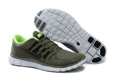 wholesale dealer 988c7 13e01 Nike Free Run 5.0 V2 Mens Running Shoes New Army Green  runner Nike Free  Shoes