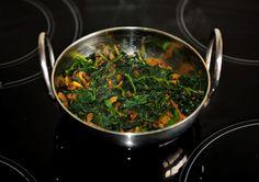 Saag Bhaji - dry style - page 1 - Bhajis (Onion, Pakora, Mushroom, Vegetable, etc - Curry Recipes Online - 9 page views remaining today