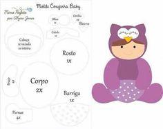 baby corujinha - molde
