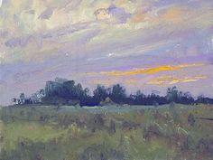 "Above Loree - Oil on panel 6"" x 8"""