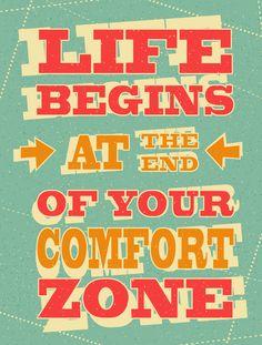 La vida comienza cuando sales de zona de confort #marcapersonal #branding #brand #blog #blogging #blogger