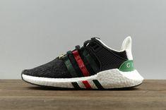 competitive price e5e53 e2a20 Adidas EQT Support Adv 91 17 Primeknit X Black White Green Red 2018 Fashion  Shoe Cosas