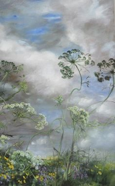 Vintage French Soul ~ Claire Basler ~ this would be perfect in my Granddaughters fairy bed room :) Landscape Art, Landscape Paintings, Acrylic Paintings, Arte Floral, French Artists, Botanical Art, Painting Inspiration, Flower Art, Painting & Drawing