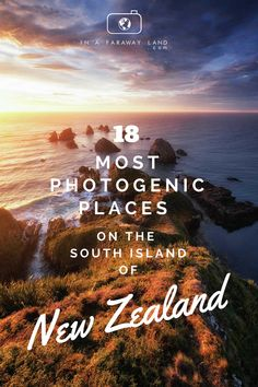 18 Most Photogenic Places on The South Island of New Zealand From famous beaches, picturesque lakes and weird geological features. Find out what the best photography spots on the South Island of New Zealand are! Road Trip New Zealand, New Zealand Itinerary, New Zealand Adventure, New Zealand Travel Guide, Visit New Zealand, Nz South Island, New Zealand South Island, Cool Places To Visit, Places To Travel