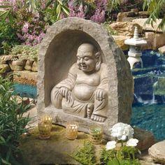 Basil Street Gallery Garden Statue The Great Buddha Garden Sanctuary Sculpture Garden Fountains, Garden Statues, Garden Sculptures, Outdoor Statues, Home Design, Design Ideas, The Great, Buddha Sculpture, Buddha Statues
