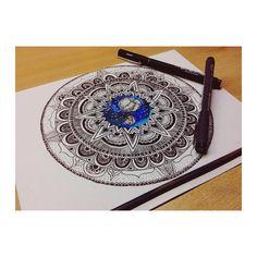 #Draw #Drawing #Moon #ilustration #Art #painting #Mandala #Galaxy