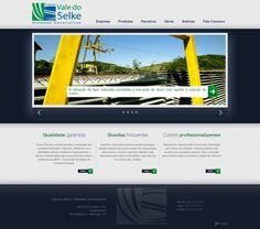Site institucional desenvolvido para a Vale do Selke - Sistemas Construtivos, do grupo Fey.