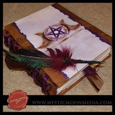 MY NEW BOOK OF SHADOWS.  BEAUTIFULLY CRAFTED AND HAND MADE.  ONE OF A KIND.  )O(