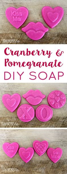DIY Cranberry + Pomegranate Soap - Happiness is Homemade
