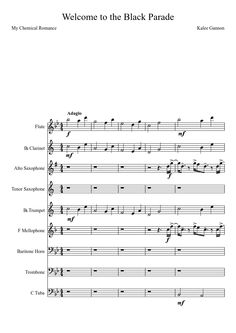 Welcome to the Black Parade (Marching/Symphonic Band) (UPDATED) | MuseScore