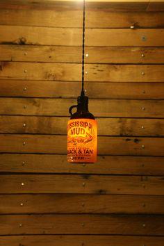 The Ultimate Beer Bottle Pendant Light - Bar Light - Bar Room Light Fixture - Swag Light