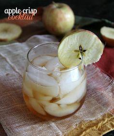 Apple Crisp Cocktail (1 oz Cake flavored Vodka 1 oz whiskey 1/2 oz maple syrup 2 oz apple juice)