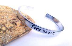 Fire #Heart Cuff #Bracelet by BlissfulBirdDesigns on Etsy, $16.95 #jewelry #accessories