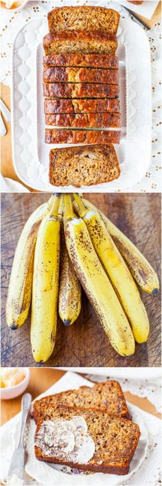 Six-Banana Banana Bread - Yes, 6 bananas in 1 loaf means it's super soft, moist & robust banana flavor! Now you know what to do with all your ripe bananas!