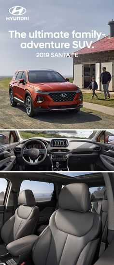 Better adventures starts with quality time in the 2019 Hyundai Santa Fe. It has a cabin of conveniences, and it's equipped with the latest safety for important peace of mind. Check out the Santa Fe today—our most advanced SUV ever. Hyundai Cars, Hyundai Vehicles, Santa Fe Sport, Compact Suv, Family Adventure, Quality Time, Fes, New Life, Volvo