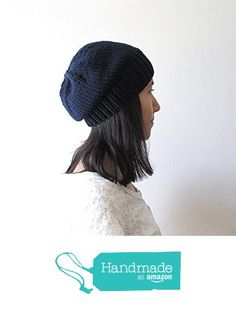 Navy Blue Slouchy Hat, Women Knit Hat, Mens Slouchy Beanie, Hand Knit Chunky Slouch Hat, Wool Blend, Winter Accessories, Made to Order from NaryaBoutique https://www.amazon.com/dp/B01LX18OBV/ref=hnd_sw_r_pi_dp_wAU9xbZN7P3EJ #handmadeatamazon