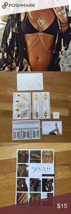 Flash Tattoos Dakota Opened but never used set of Flash Tattoos - the Dakota set. Still contains all four sheets - never used Flash Tattoo Makeup