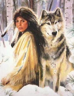 native american imagery and art | Maija - Silent Partners -Native American Western Wildlife Art