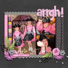 Princess Scaredy Pants Kit from Peppermint Creative | page by @Mary Kate Finney #halloween #girl
