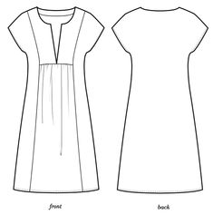 Mojave by Colette Patterns - Pregnancy Tunic Sewing Patterns, Sewing Blouses, Dress Making Patterns, Clothing Patterns, Washi Dress, Colette Patterns, Simple Dresses, Maternity Dresses, Dressmaking