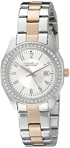 Caravelle New York Womens 45M108 Analog Display Quartz Two Tone Watch -- Details can be found by clicking on the image.Note:It is affiliate link to Amazon.