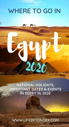 If you are planning Egypt tours in 2020 or a holiday to Egypt, you should definitely check this article.I have collected here all the important dates and interesting things we are expecting to happen in Egypt in The list will be updated through the year. Morocco Beach, Visit Morocco, Morocco Travel, Egypt Travel, Africa Travel, Egypt Information, Hurghada Egypt, Places In Egypt, Egypt Culture