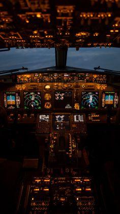 : airplane, cockpit, Boeing, 737,