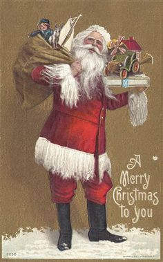 Artist Stephen Kline has collected a variety of Santa Claus images. Please visit… Images Noêl Vintages, Images Vintage, Vintage Christmas Images, Christmas Past, Victorian Christmas, Father Christmas, Vintage Holiday, Christmas Greetings, Vintage Postcards