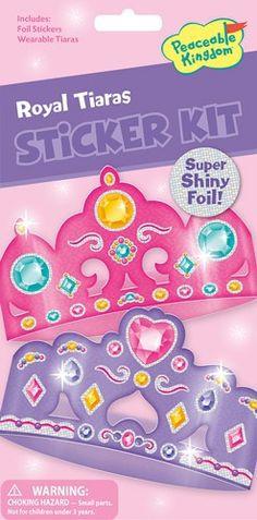 PK Bastelset Quick Sticker Kit glitzernde Kronen Tiaras 3+ - lohnende Bonuspunkte sammeln, Rechnungskauf, DHL Blitzlieferung!