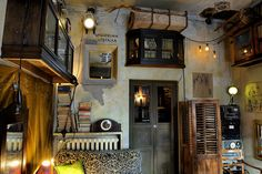 Coffeeshop interiors #cafe #design / Jozef K. Cafe near a train station in Sopot, Poland