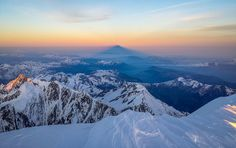 Mont Blanc Summit Shadow | by z000p