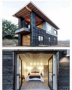 """422 Likes, 9 Comments - Shipping container homes (@lifebox_container) on Instagram: """"2х этажный дом из морских контейнеров Панорамное остекление с террасой Срок строительства 3…"""""""