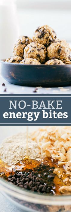 These energy bites are delicious and so quick to make! Easy and protein-packed granola balls -- perfect snack or breakfast on the go!