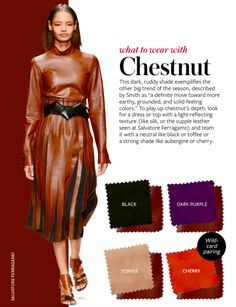What to wear with CHESTNUT #whattowearwith