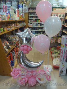 #palloncini #dolcemania #puglia #gargano #sangiovannirotondo #addobbi #nascita #balloons #luna #stella #elio #fiori
