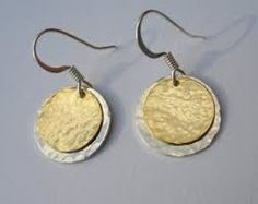 Image result for silver disc hammered jewellery