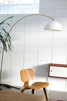 Eames LCW and vintage Italian lamp.