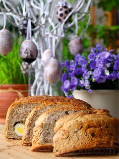 hekvanc: Fürjtojásos - kapribogyós, snidlinges, petrezselymes - húsvéti sós kalács