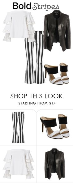 """""""Bold stripes"""" by pogx ❤ liked on Polyvore featuring Marques'Almeida, Exclusive for Intermix and Alexander McQueen"""