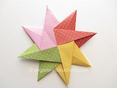 Modular Origami Fuse 8-Pointed Star Folding Instructions