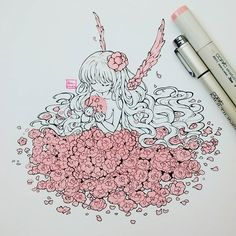 drawings of people Copic Drawings, Kawaii Drawings, Cute Drawings, Anime Art Girl, Manga Art, Pretty Art, Cute Art, Art Kawaii, Drawn Art