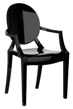 Premier Housewares Louis Style Chair - Black, Set of 2