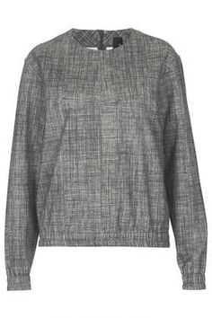 Grey Check Sweat by Boutique