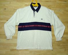 938b5a22d Vintage Fred Perry Long Sleeve Polo Medium Size by ArenaVintage #v2team Fred  Perry, Long