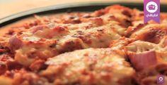 وصفة بيتزا الدجاج مع صلصة الباربيكيو