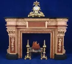 Dollhouse Artist Offerings for sale | eBay Edwardian Fireplace, Georgian Fireplaces, Fireplace Heater, Fireplace Mantels, Miniature Furniture, Dollhouse Furniture, Diy Dollhouse, Dollhouse Miniatures, Gone With The Wind