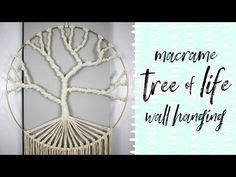 Check out this free macrame tree of life pattern! It's boho, beautiful, and simple enough for a confident beginner. Free Macrame Patterns, Macrame Wall Hanging Patterns, Crochet Tree, Finger Knitting, Macrame Tutorial, Macrame Projects, Tree Of Life, Diy Wall, Diys